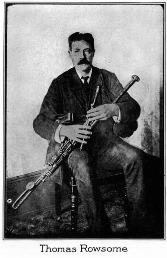 Thomas Rowsome, uilleann pipes / unidentified photographer