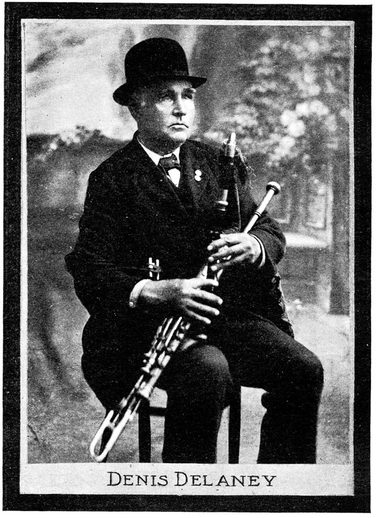 Denis Delaney, uilleann pipes / unidentified photographer