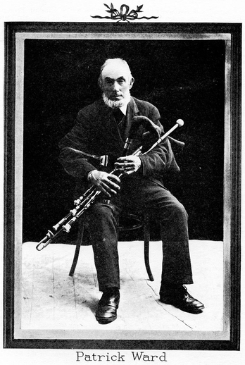 Patrick Ward, uilleann pipes / unidentified photographer