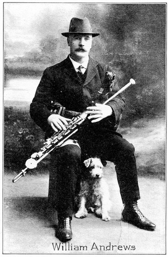 William Andrews, uilleann pipes / unidentified photographer