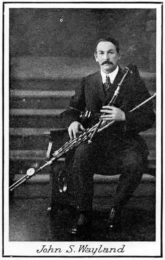 John S. Wayland, uilleann pipes / unidentified photographer