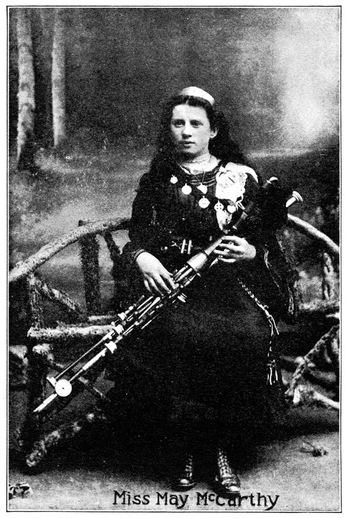 May McCarthy, uilleann pipes / unidentified photographer