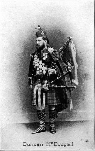Duncan McDougall, pipes / unidentified photographer