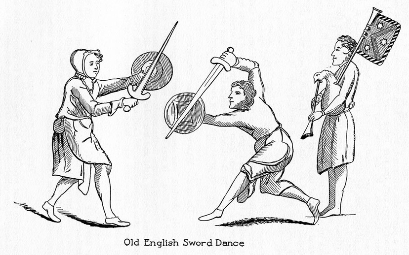 Old English sword dance / unidentified artist