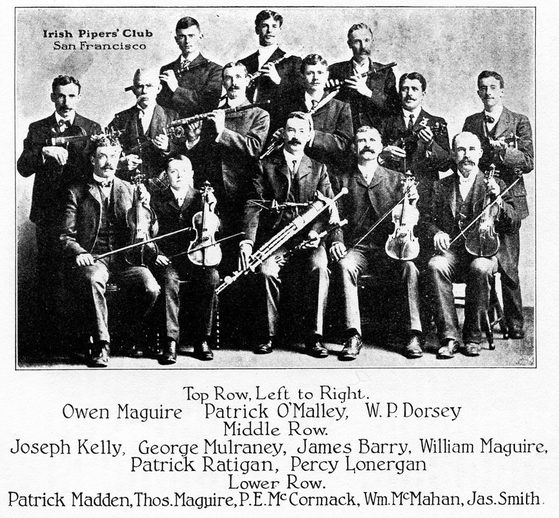 Irish Pipers' Club, San Francisco / unidentified photographer