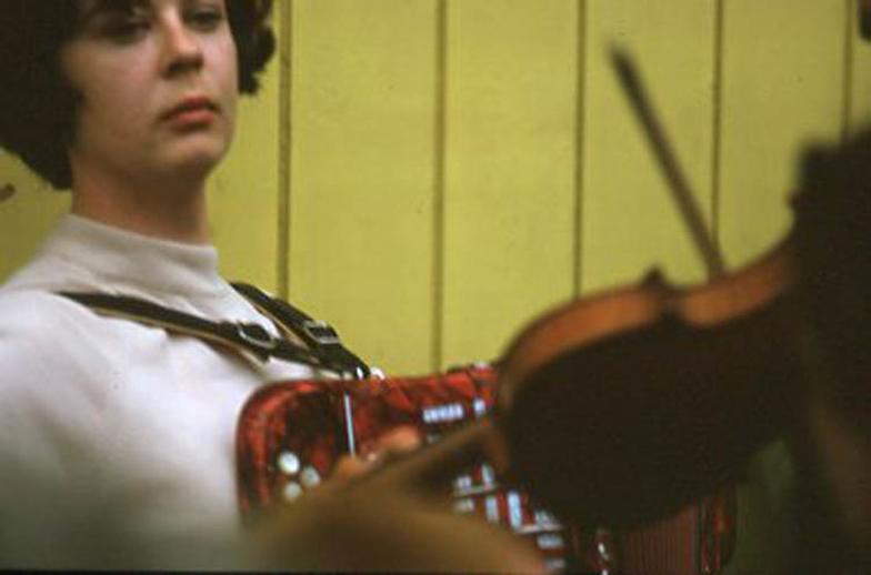 Unidentified, accordion, & others, 1969 / Pádraig Ó Mathúna