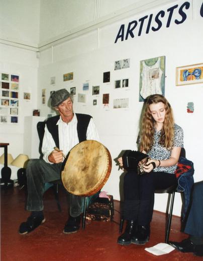 Tom O'Neylon, bodhrán & Florence Fahy, concertina / Nicholas Carolan