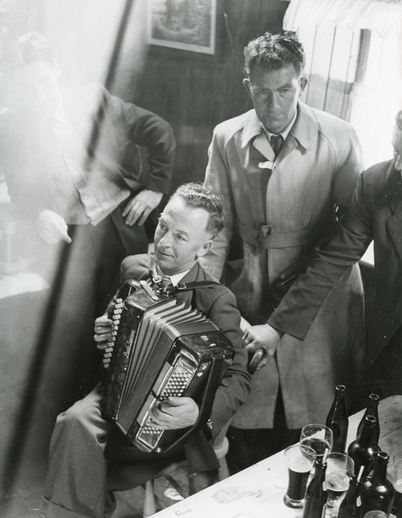 George Ross, accordion, at Fleadh Cheoil, Dungarvan, 1957 / Bord Fáilte