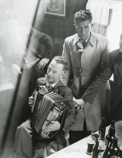 George Ross, accordion, at Fleadh Cheoil, Dungarvan, 1957 / Bord Fáilte