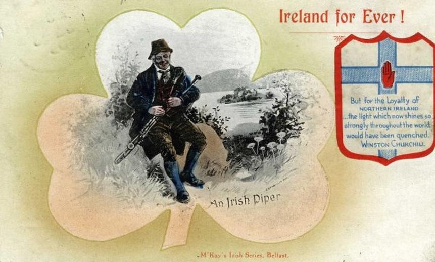 An Irish piper / unidentified artist