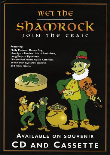 Wet the shamrock, CD promotional poster