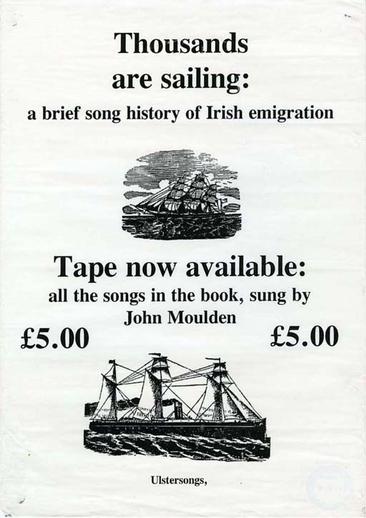 John Moulden, singer, cassette promotional poster