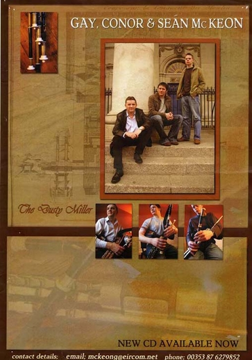 Gay McKeon, uilleann pipes, & others, CD promotional poster