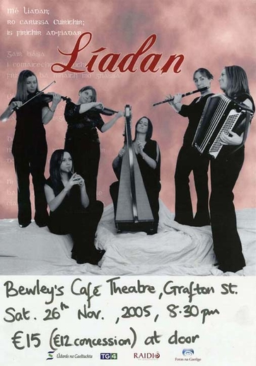 Líadan, group, 2005, event poster