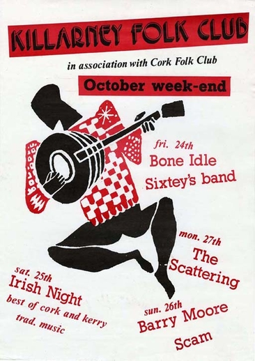 Killarney Folk Club, event poster