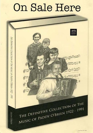 Paddy O'Brien, accordion, audio cassette promotional poster