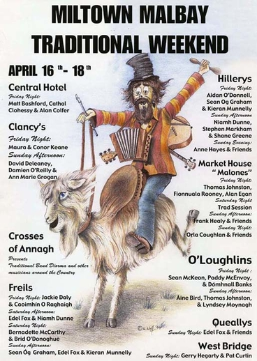 Miltown Malbay Traditional Weekend, event poster