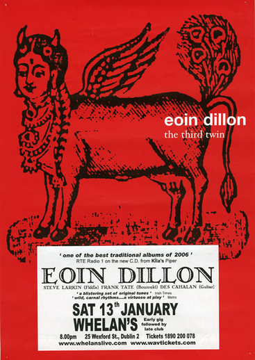 Eoin Dillon, uilleann pipes, CD promotional poster