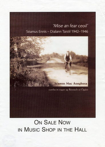 Séamus Ennis, collector, book promotional poster