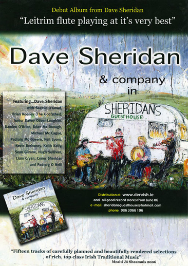 Dave Sheridan, flute, CD promotional poster