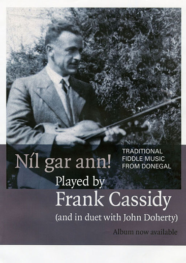 Frank Cassidy, fiddle, CD promotional poster