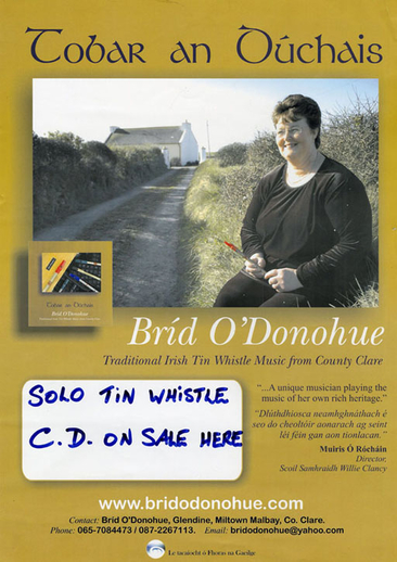 Bríd O'Donohue, whistle, CD promotional poster