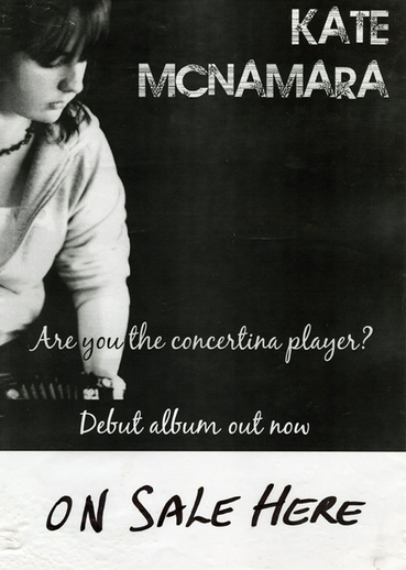 Kate McNamara, concertina, CD promotional poster