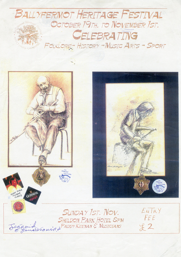Ballyfermot heritage festival,1970, event poster