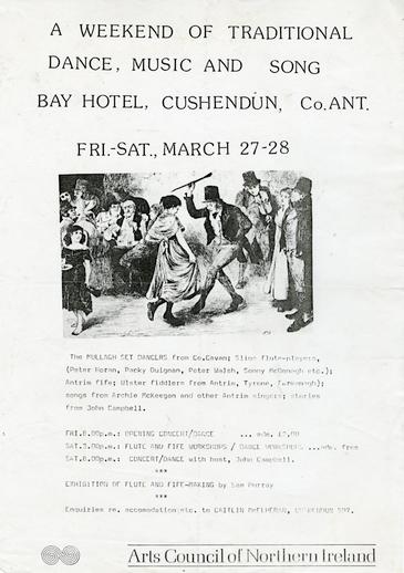 Bay Hotel, Cushendun, Co. Antrim,1971, event poster