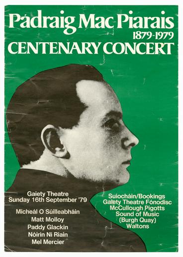 Padraig Mac Piaras Centenary Concert, 1979, event poster