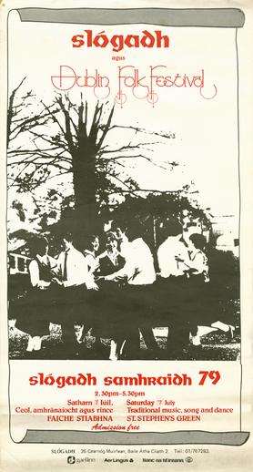 Slogadh agus Dublin Folk Festival, 1979, event poster
