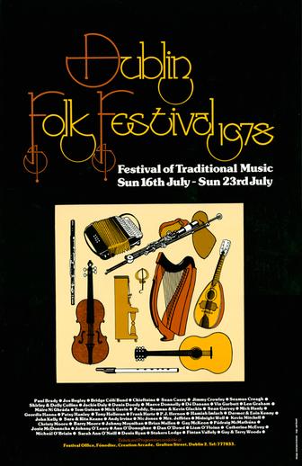 Dublin Folk Festival, 1978, event poster