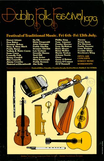 Dublin Folk Festival, 1979, event poster