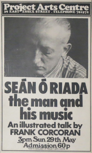 Seán Ó Riada : the man and his music, 1977, event poster