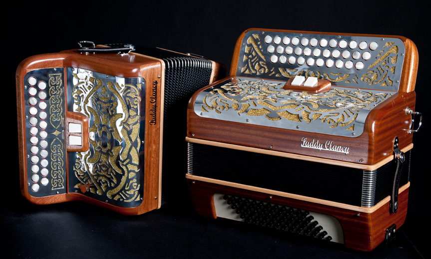 Two accordions made by Paddy Clancy / Stephen Power