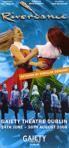 Riverdance 2008, advertisement [recto]