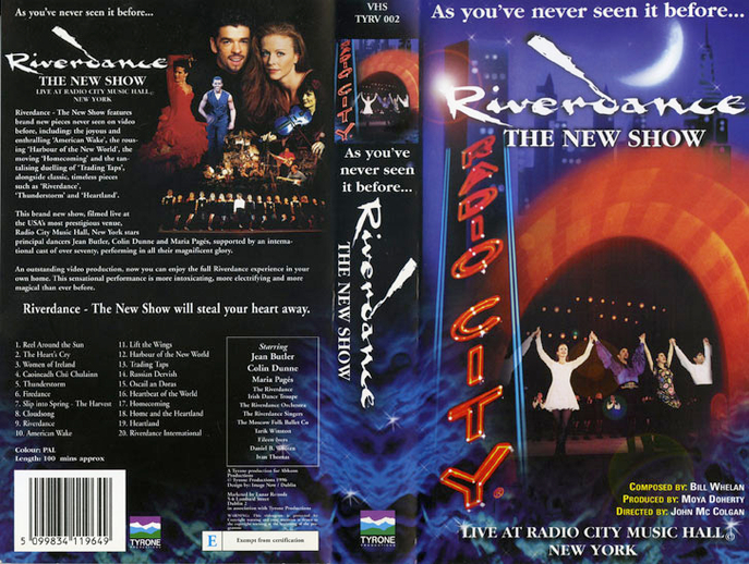 Riverdance : the new show, VHS cover