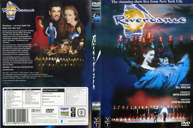 Riverdance : live from New York city, DVD cover
