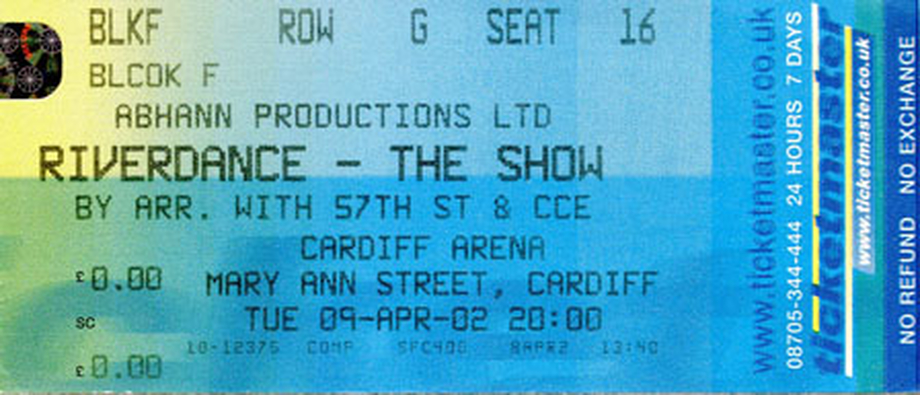 Riverdance : the show, ticket