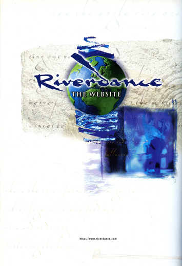 Riverdance website, advertisement