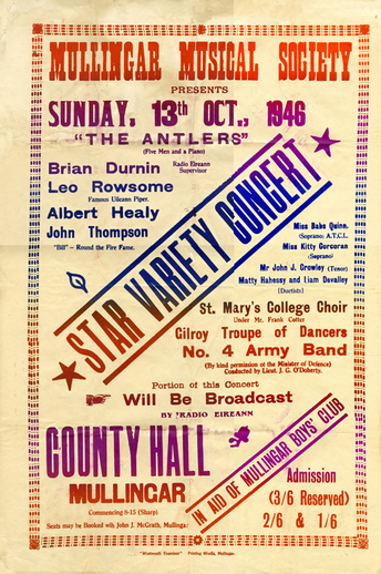 Star variety concert, 1946, event poster