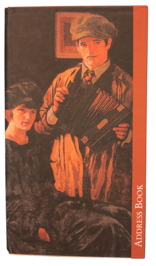 Address book featuring accordion player on cover / ITMA photographer
