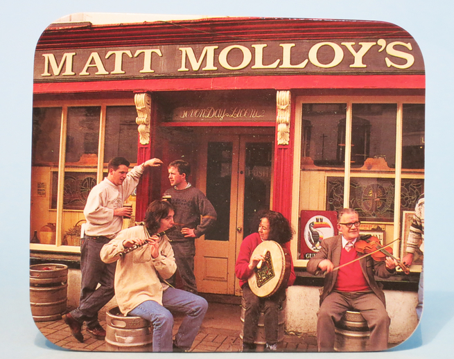 Coaster featuring Matt Molloy's pub in Westport, Co. Mayo / ITMA photographer