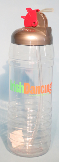 Water bottle inscribed with 'Irish Dancing' / ITMA photographer
