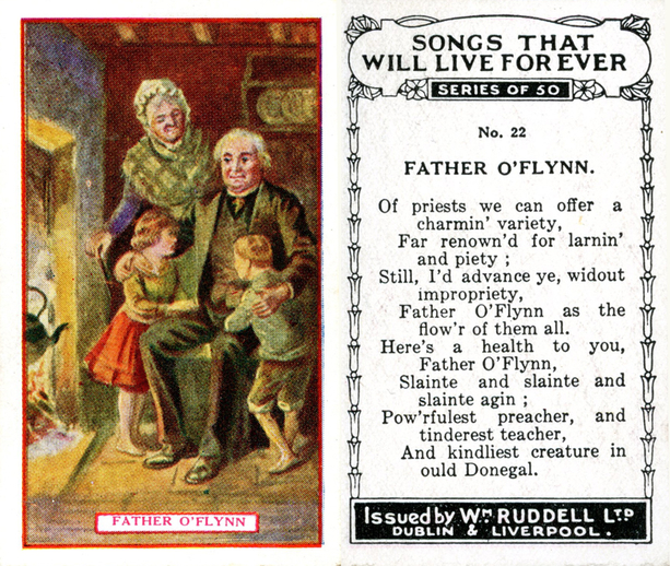Father O'Flynn, cigarette card / Wm. Ruddell Ltd.