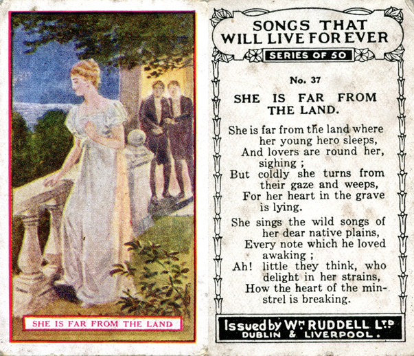She is far from the land, cigarette card / Wm. Ruddell Ltd.