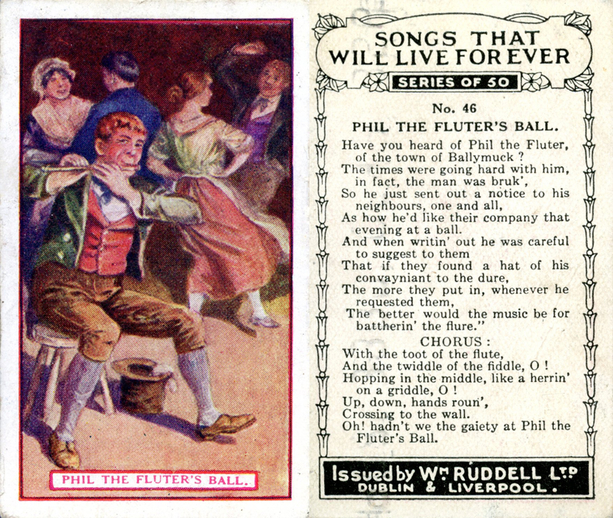 Phil the fluter's ball, cigarette card / Wm. Ruddell Ltd.