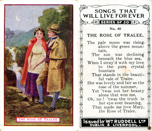 The rose of Tralee, cigarette card / Wm. Ruddell Ltd.