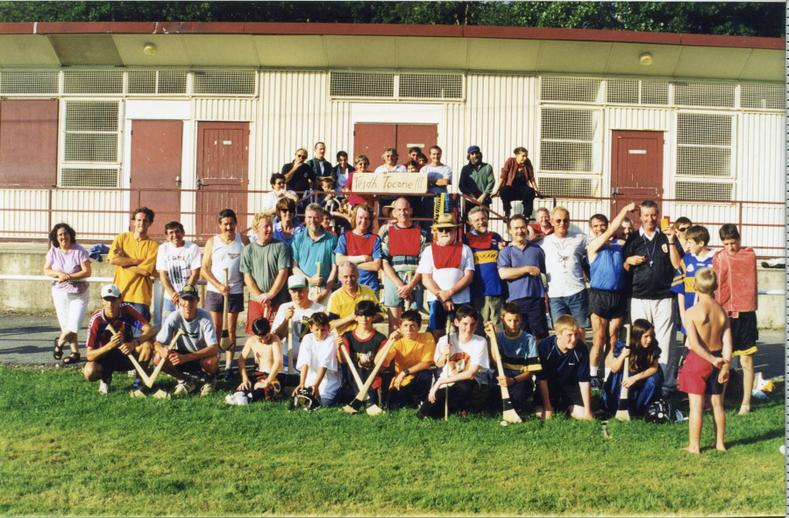 Hurling match participants, Tocane, 1997 / Mags Crehan