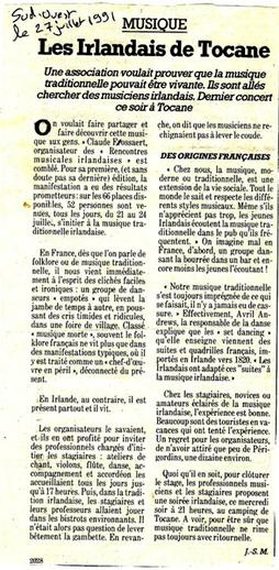 The Irish of Tocane, article